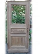Haustüre, einflügelig, mit großem Lichtausschnitt, sauber entlackt, Nadelholz / Kiefer