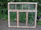 Fensterelement dreiflügelig, mit Oberlicht und Rahmen, ehemals aus einem Gartensaal, sehr guter Zustand