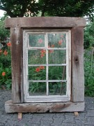 Historisches Fenster mit original Eichenbalken-Gewann, Barock