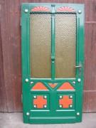 Haustüre einflügelig, Jacobsmuschel, große Lichtausschnitte und Einbaurahmen