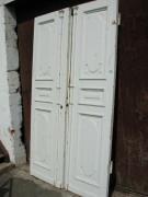 Herrschaftliche gestaltete Flügeltüre, Wohnungstüre,  Abschlusstüre, Windfangtüre, zweiflügelig, 2/5 zu 3/5 Teilung, Pitch-Pine / Kan. Kiefer/ oder Lärche.