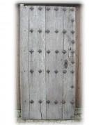 Holztor, Burgtüre, Eichenholz, gut 300 Jahre, Dekoartikel
