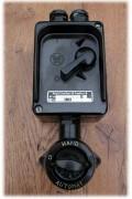 Historischer Zweistufenschalter, Bakelitschalter zweistufig, 380 V