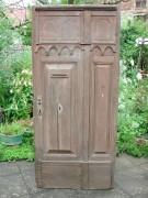 Türe für Deco, Kulissentüre, Requisite, Eichenholz, handgeschmiedete Langbänder