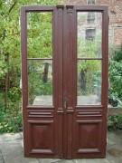 Historische Haustür zweiflg. mit sehr großer Glasfläche