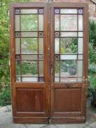 Historische Windfangtüre /Abschlusstüre / Flügeltüre mit rießiger Glasfläche