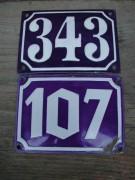 Emailleschilder, Original Hausnummern, Antike Emailhausnummern