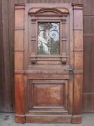 Wunderschönes, Haustür-Elememt der Gründerzeit in Pitch-Pine im Superzustand, 98cm oder 131cm Breite