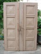 Historische Haustüre, zweiflügelig, Eichenholz, alle Beschläge vorhanden, Sonderpreis: 497,00 €