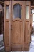 Historische Haustüre, zweiflügelig, Jugendstil, sauber entlackt