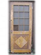 Glastüre mit schönem großen Glasausschnitt, einflügelig, Nadelholz