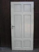 Zimmertürblatt mit original Kastenschloss u. Schlüssel, Schippenbändern