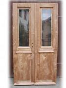 Flügeltüre, Abschlusstüre, Windfangtüre, zweiflügelig, sauber entlackt