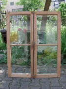 Fensterflügel, zweiflügelig, sauber entlackt, komplett verglast