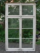 Fenster zweiflügelig mit zweiflg. Oberlicht und Rahmen