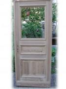 Haustüre, einflügelig, mit großem Lichtausschnitt, sauber entlackt, Nadelholz / Kiefer.