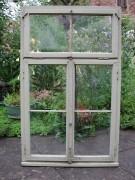 Historisches Fenster zweiflügelig mit original Rahmen, in bestem Eichenholz