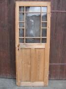 Historisches Zimmertürblatt, einflügelig, Nadelholz, Holzsprosse, komplette Originalverglasung.