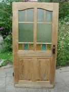 Glastüre, Zimmertüre, Innentüre, sauber entlackt, komplett mit Kastenschloss