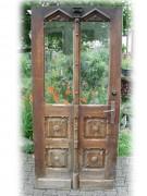 Historische Haustüre, einflügelig, Gründerzeit, mit original Kastenschloss