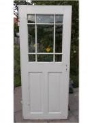 Zimmertür mit Holzsprosse und Originalverglasung
