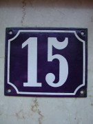 Emailleschild, antike Hausnummer, historische Hausnummer [15]
