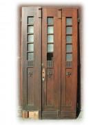 Historische Haustüre, zweiflügelig, geschnitzt, anno 1919