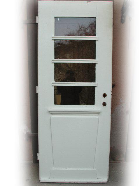 Historische Balkontür Wohnungstür mit Rahmen