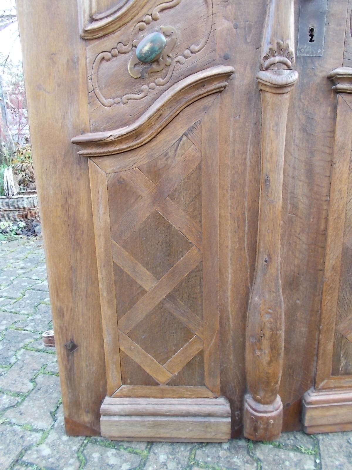 Historische Eichen-Holzhaustür zweiflg., Barock