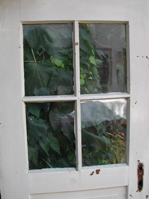 Historisches Zimmertürblatt mit Kreuzsprosse, schöne Patina, Nadelholz
