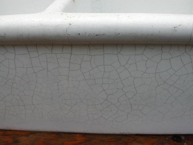 Atelier Doppel - Porzellanspüle, Spülstein mit toller Patina 92 B./54 T./24 H./ cm