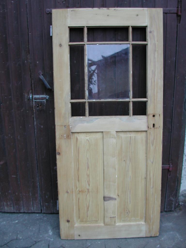 Historisches Zimmertürblatt, einflügelig, Nadelholz, Holzsprosse
