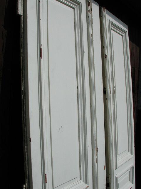 Herrschaftliche Flügeltüre, Wohnungstüre,  Abschlusstüre, Windfangtüre, zweiflügelig, 2/5 zu 3/5 Teilung, Kiefernholz